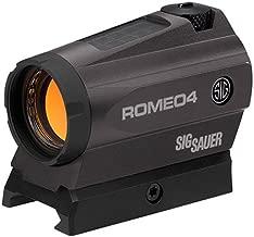 Sig Sauer SOR41301 ROMEO 4M Low Profile Red Dot 0.5 MOA Gun Scope (1x20mm, Graphite)