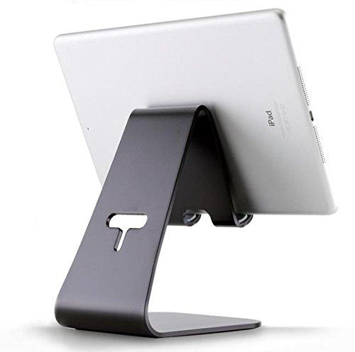 2 PC Tablette Stand Table De Lit Bureau D'ordinateur Pliable Ergonomique Universel Paresseux Portable Socle En Aluminium Pour Ipad Air Pro, Silver,Black