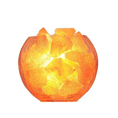 Luz de la Sal de Cristal, luz Nocturna llevada, decoración del hogar Himalayan Luz de Noche USB, Adecuada para Luces de Dormitorio en la Cama, Luces de Sensor de la Sala de Estar para niños
