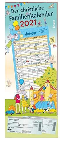 Der christliche Familienkalender 2021: Familienplaner mit 6 Spalten und Klarsichttasche