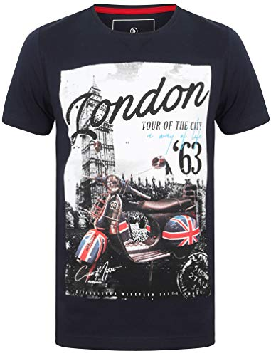 Dissident Mens London Tour The City Scooter T-shirt met korte mouwen