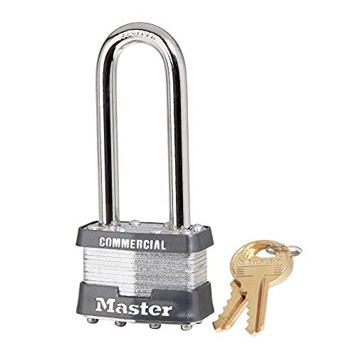 Master Lock 1KALJ Outdoor Padlock with Key, 1 Pack