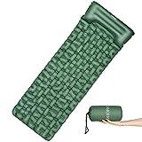 OMORC Matelas de Camping Gonflant avec Large Taille 199 * 70 * 6CM, Tapis de Sol Autogonflants Ultraléger, Coussin d'air 1 Place pour Camping, Voyage, Randonnée,Tente