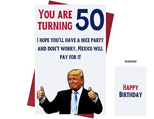 Let's Make 50 Great Again - Donald Trump - Sarcasm 50. Geburtstag Karten für Frauen, Männer, Freunde, Kollegen, etc. Donald Trump Geburtstagskarten 50 Jahre - 50. Geburtstagskarten Jubiläum