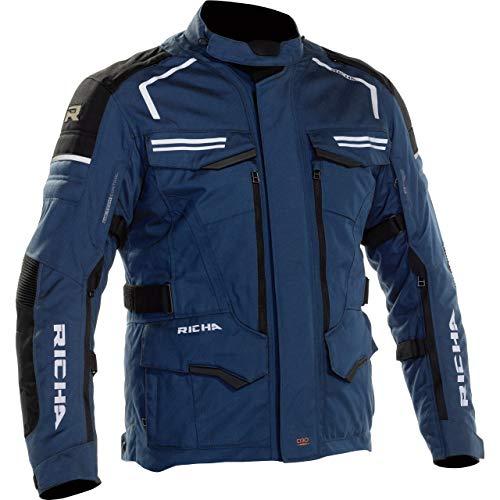 Richa Motorradjacke mit Protektoren Motorrad Jacke Touareg 2 Textiljacke Navy XL, Herren, Tourer, Ganzjährig, blau