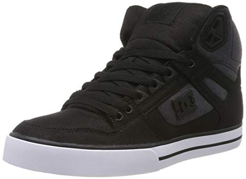 DC Shoes Herren Pure WC TX SE-High-Top Shoes for Men Skateboardschuhe, Black Dark Used, 50 EU