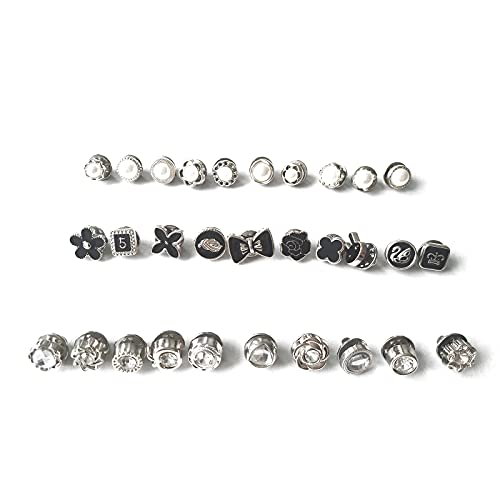 30 Piezas Mujer Camisa Broche Botones, Broche de Seguridad para Camisa, Botones de Seguridad Broche, Botones de Broche de Camisa, para la Decoración de Ropa y Sombreros de Bricolaje