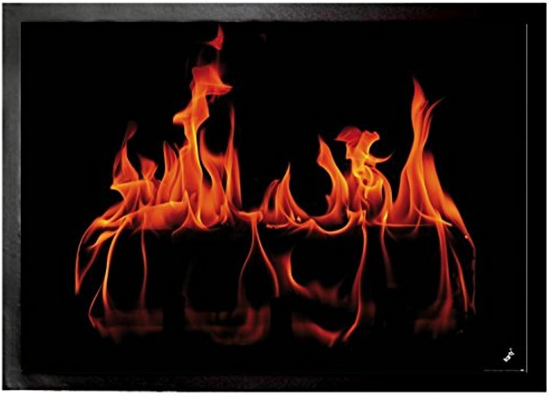 Fires Door Mat Floor Mat - Warm Fireplace (28 x 20 inches)