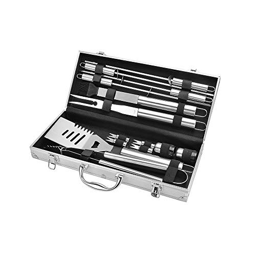 Best Bargain 14 Piece Set of BBQ Grill Tool Set, High Performance Stainless Steel Bakeware Outdoor C...