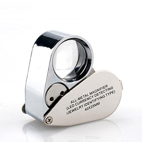 Yxsd High-powered diamant sieraden taxatie kan geld high-definition metalen handheld vergrootglas met lamp detecteren 40 keer microscoop draagbare