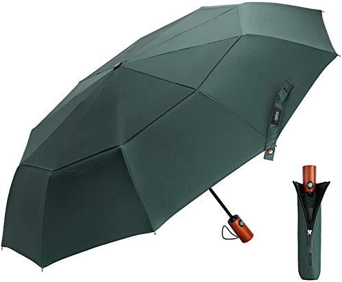 Umbrella Pocket Umbrella Inverted Umbrella - incl. Umbrella Bag & Travel case - Automatic Open-Close, Teflon Coating, Windproof, stormproof up to 140 km/h