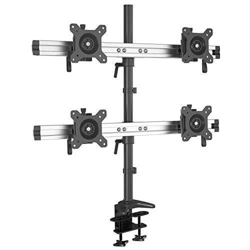 HFTEK 4-voudige monitorarm - tafelhouder voor 4 beeldschermen van 15-27 inch met VESA 75/100 (MP240C-L)