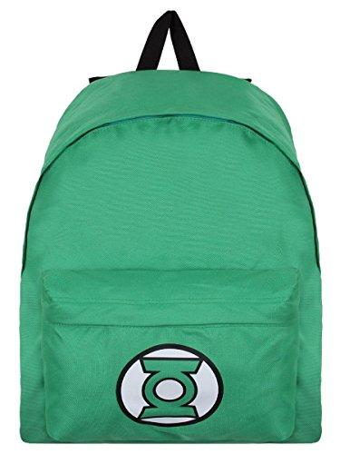 DC Comics Green Lantern Logo Rucksack grün. Offiziell lizenziert
