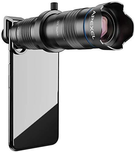 Telescopio monocular, HD 28X Teleobjetivo Zoom Lente de cámara de teléfono móvil con obturador, Foco ligero Catalejo con zoom Adecuado para eventos deportivos Conciertos Observación de aves Campi
