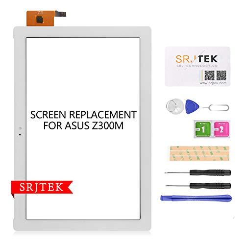 SRJTEK per Asus ZenPad 10 Z300M P00C Touch Screen Digitizer Vetro di ricambio, NO LCD (bianco)
