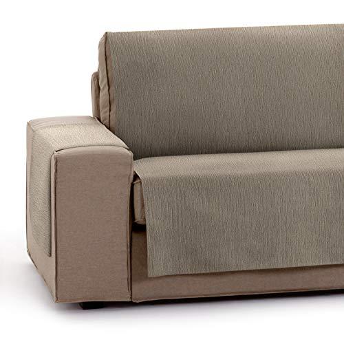 Vipalia Protector Funda para Sofa Ajustable. Cubresofas para Invierno Verano. Funda Sofa Antimanchas Chenilla Suave. Color Vison. Cubre Sofa 4 plazas (190 cm)