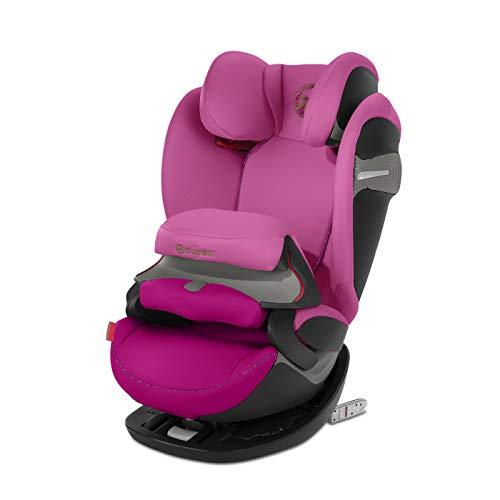 Cybex Gold Pallas S Fix Seggiolino Auto 2 in 1 con e senza ISOFIX, Bambini Gruppo 1/2/3/9-36 kg, dai 9 Mesi ai 12 Anni, Rosa (Fancy Pink)