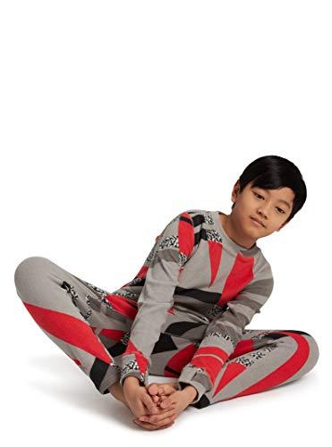 Burton Kids Fleece Base Layer Set, Bold Throwback, Medium