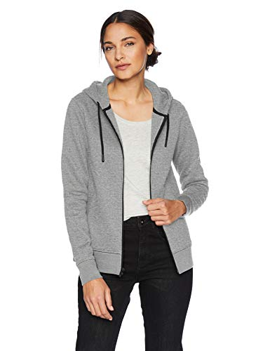 Amazon Essentials - Sudadera con capucha impermeable con forro térmico y cremallera completa para mujer, Gris (Grey Heather), US XL (EU 2XL)