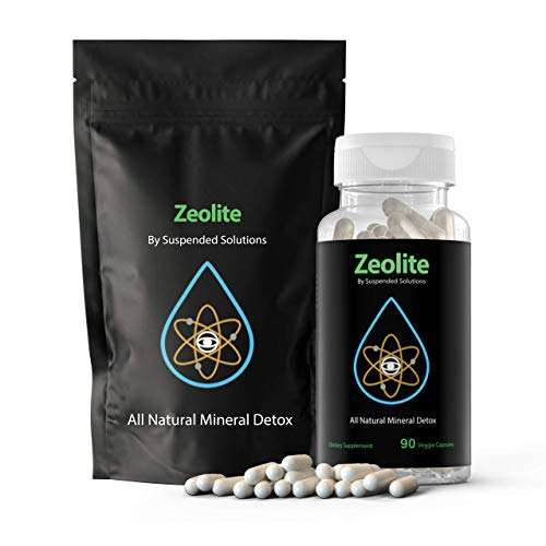 Suspended Solutions - Zeolite Clinoptilolite - 90 Capsules - Responsibly Mined - All Natural Mineral Detox Removes Chemicals Safely and Effectively - Restores Gut Health and Boosts Immunity