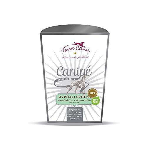 Terra Canis Bufalo d'acqua - Bocconcini croccanti Canipé Hypoallergenic, 100g I Snack premium per cani con ingredienti di autentica qualità human-grade al 100%
