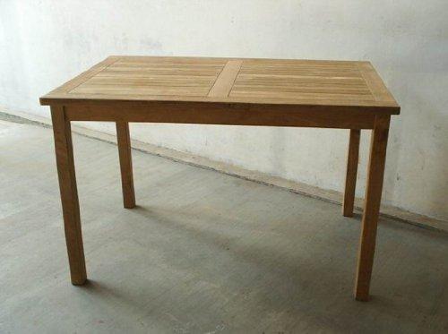 Teakholz Tisch rechteckig, 70x110x75cm, 75% maschinengefertigt, 25% Handarbeit, ofengetrocknet, aus nachhaltig bewirtschaftetem Plantagenanbau