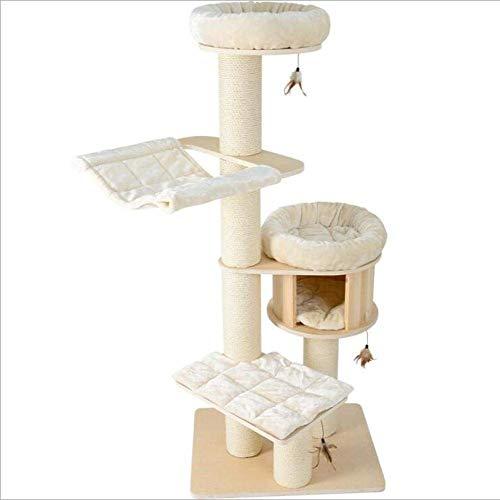 DAYUMAOJIN Torre del árbol del Gato, Maceta de Miel para Gatos, Arena para Gatos de Madera Maciza, árbol del Gato, Barra de arañazos, Gato, Altura 180 cm