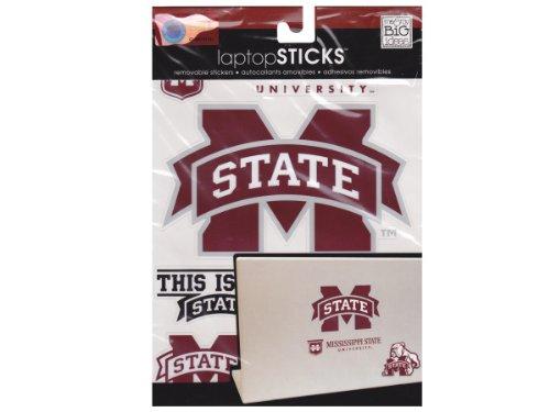 me & my BIG ideas laptopSTICKS Removable Laptop Stickers, Mississippi State Bulldogs