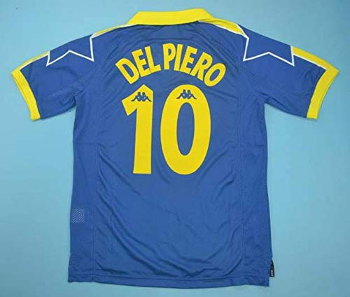 SU DEL Piero#10 Retro Trikot 1997-1998 Full Patch Blue Color (L)