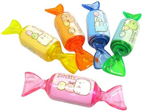 すみっコぐらし 蛍光香り付きキャンディマーカー5本セット 蛍光ペン/マーカー