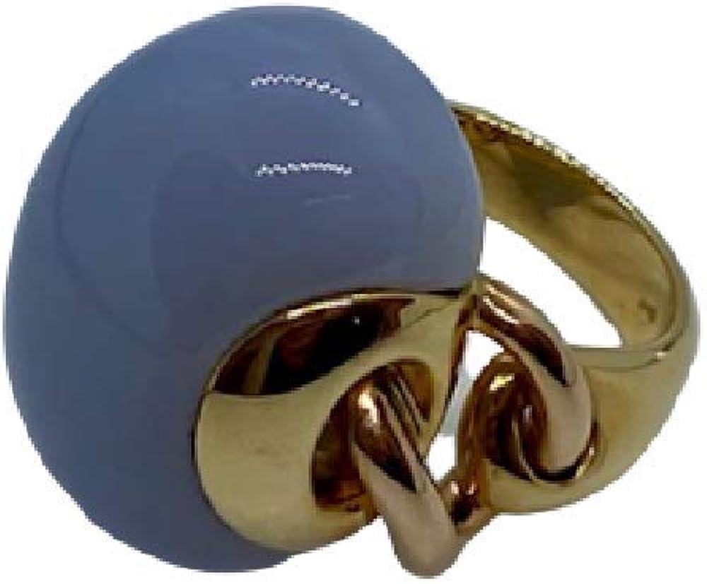 Chimento,anello per donna, in oro giallo e rosa 18k(11,4 gr) , con cabochon di calcedonio naturale 1A05990WW4150