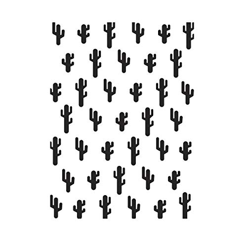 Darice Embossing Folder Prägefolder - Schablone, Kaktus, Plastik, Transparent, 10.8 x 14.6 x 0.11 cm