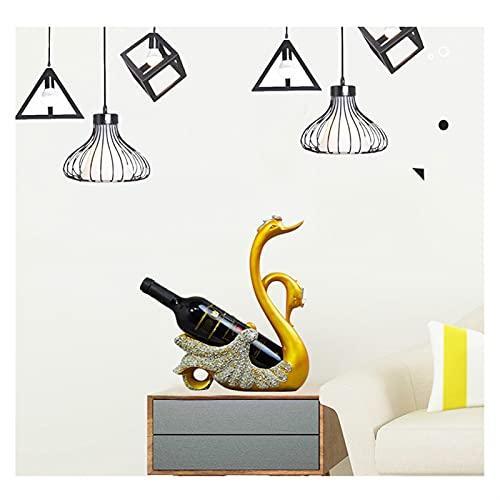 Botella de vino Soporte de almacenamiento Moderno Resina Escultura Flamingo Adornos en forma de par de pareja Hotel Club Sala de estar Gabinete de vino Muestra Adorno de escultura para barra de licor
