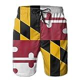 VvwSaWUgQL Flag of Maryland Men's Swim Trunks Fashion 3D Printed...