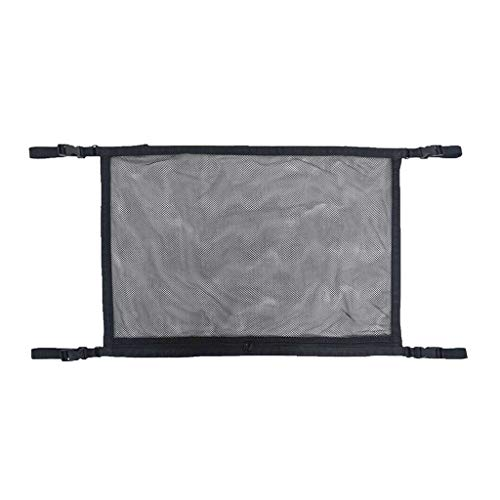 SUV Ceiling Cargo Net Pocket - Car Roof Long Trip Storage Bag Tent Putting, Housekeeping & Organizers Sales, for Halloween Day (Black)