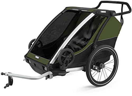 Thule, Chariot Cab 2 Trailer Passeggino Alluminio Sex Adulto, Alluminio/cypress Verde, Alluminio/verde Cypress, uni
