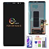Compatible with Samsung Galaxy Note 8 Screen Replacement(No Frame),for Note 8 2017 SM-N9500 N950F N950F/DS/W/U LCD Display Touch Screen Digitizer Assembly Parts,with Screen Protector+Tools(Black)