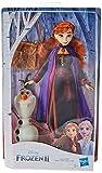 Hasbro E6661ES0 Die Eiskönigin Anna Puppe mit Olaf und Tasche, inspiriert durch den Film Die Eiskönigin 2 -