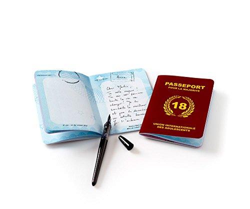 Livre d'or Passeport pour la majorité - Anniversaire 18 Ans - Cadeau Femme / Homme