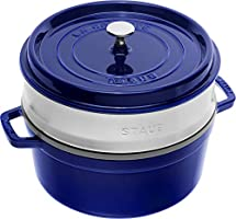 STAUB Cocotte with steamer Round 26cm Dark Blue