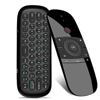 KUCE - Telecomando per mouse e tastiera wireless portatile da 2,4 GHz, adatto per TV Box, Smart TV, PC, Windows, Mac OS, Linux, laptop, presentazioni