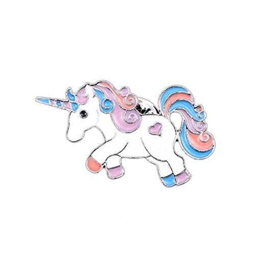 Unicornio Pin De La Solapa del Arco Iris Lindo del Unicornio Broche del Esmalte del Brillo De...
