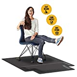 Office Chair Mat with Anti Fatigue Cushioned Foam - Chair Mat for Harwood Floor with Foot Rest Under Desk - 2 in 1 Chairmat Standing Desk Anti-Fatigue Comfort Mat