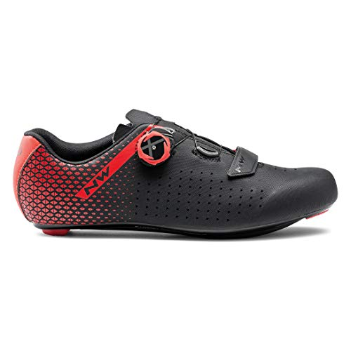 Northwave Scarpe Ciclismo Uomo Core Plus 2 Black/Red [Taglia 40翻]