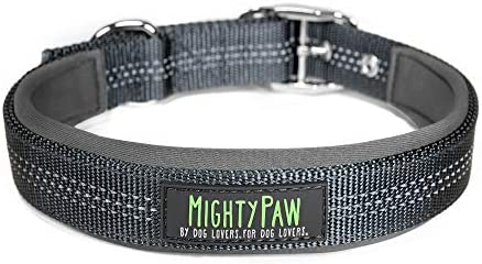 Mighty Paw Sport Collar 2 0 Soft Neoprene Padded Dog Collar Made with High Visibility Reflective product image