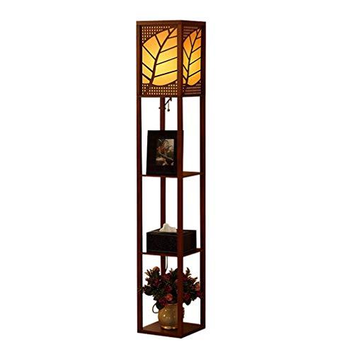 TATANE vloerlamp verticale verlichting moderne vloerlamp, voor slaapkamer nachtlampje woonkamer studiekamer, binnenverlichting met 3-laags plank vloerlampen
