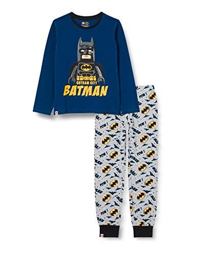 LEGO Jungen MW-Schlafanzug Batman Pyjamaset, 577 Dark Blue, 128