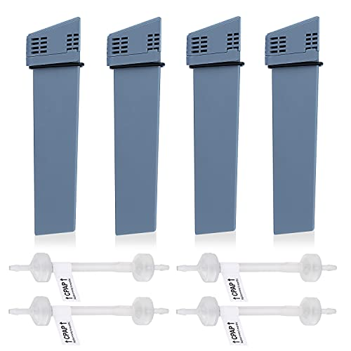 4 PCS Replacement Cartridge Filter Kit for So Clean 2, CPAP Filter Replacement Kit, CPAP Supplies Including 4 Cartridge Filter and 4 Check Valves, Same Quality as The Original