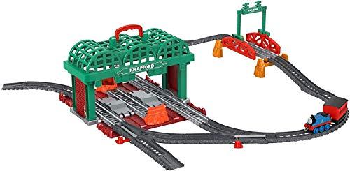 Il Trenino Thomas- Stazione di Knapford Sempre con Te, Playset 2in1 con Pista Che Diventa Valigetta Giocattolo per...