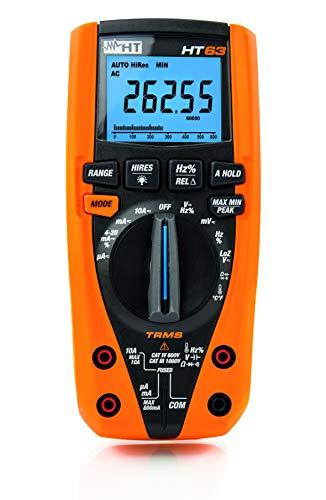 HT-Instruments Digitales Multimeter TRMS, 4 stellige Anzeige, 6000/60000 Digits, Bargraph, CAT IV, 1 Stück, HT63